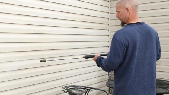 Clean exterior siding