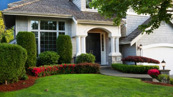 curb appeal, clean, cut shrubs and tress