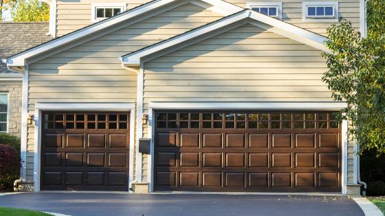Curb appeal, garage doors, paint