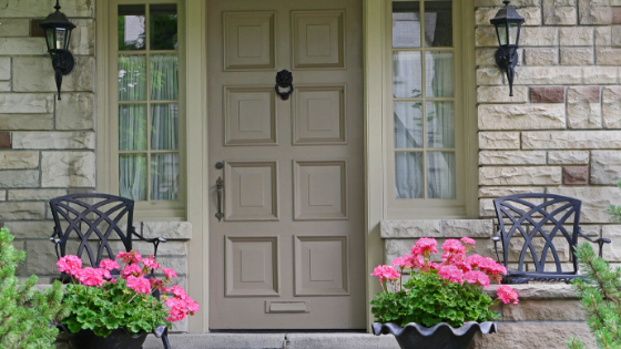Creating home entrance curb appeal