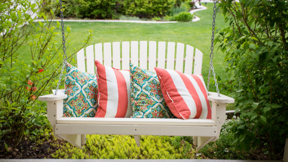Front porch seating to create curb appeal