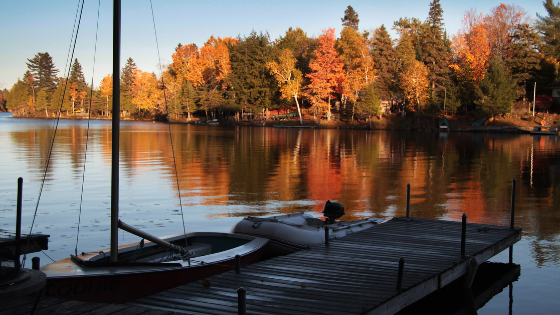 Fall time to start thinking about closing down our cottages until the spring